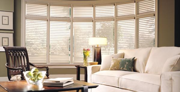 sheer window shades keep the California view