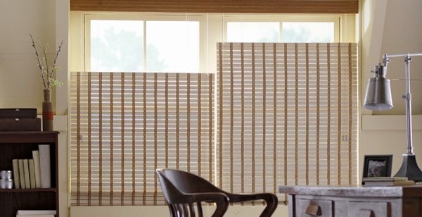 top down bottom up window shades offer privacy in this New Jersey home
