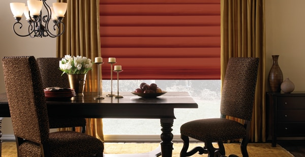 Stylish Roman Blind And Drapes In A Vermont Dining Room