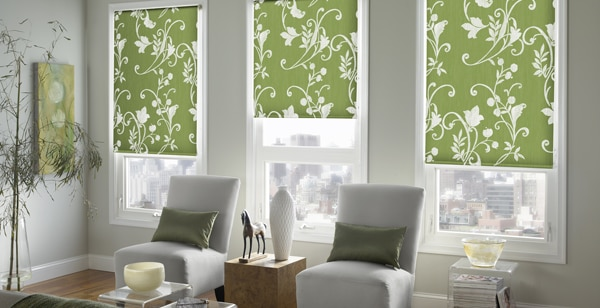 cheerful window treatments in Michigan home