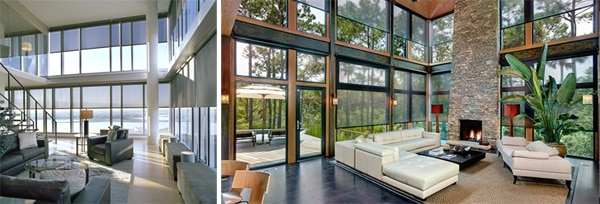 Motorized Shades Are The Number One Choice In Tall Window Treatment Ideas To Create A Sleek And Modernized Look For Picturesque Windows