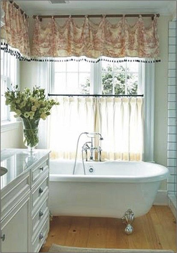 Otherwise Think Of Sticking To Roman Shades Or Use A Heavier Drapery Fabric For Your Bathroom Window Treatments