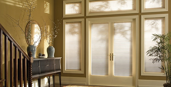 Open Foyer Window Treatments : What is the best way to treat french doors