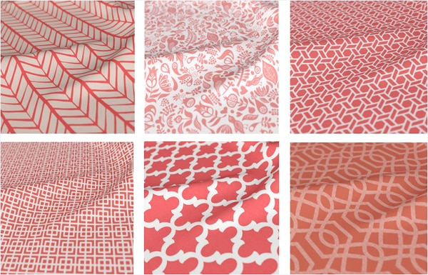 Source: Blindsgalore Living Coral Pattern Prints