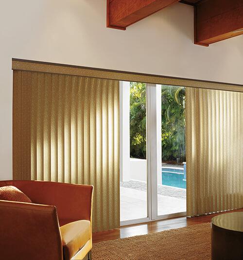 Levolor S-Shaped Vertical Blinds - Sliding Door Window Treatments - Patio Door Blinds & Patio Door Shades